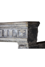 The Antique Fireplace Bank French Campagnard Limestone Fireplace Surround