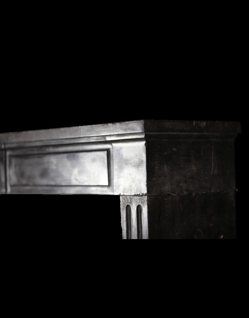 The Antique Fireplace Bank Chique Schwarz Kontrast Kaminmaske