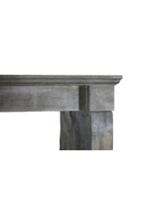 Dunkle Französisch Stein Kamin Kamin Verkleidung