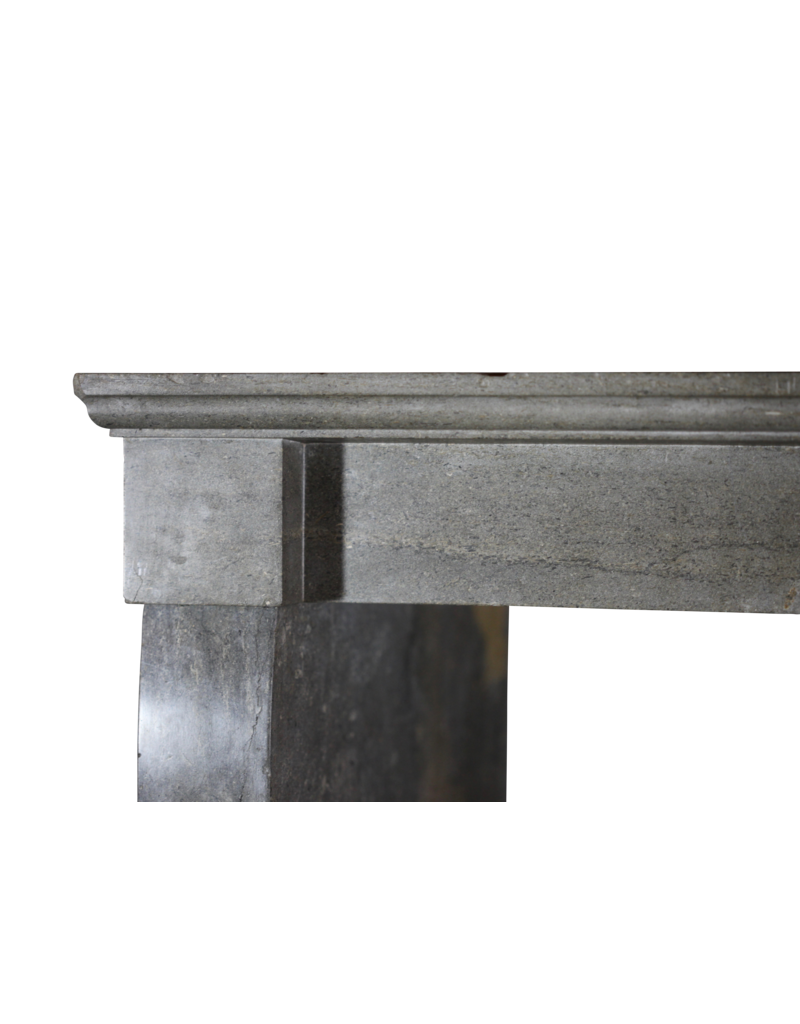 Dark French Stone Fireplace Mantlepiece