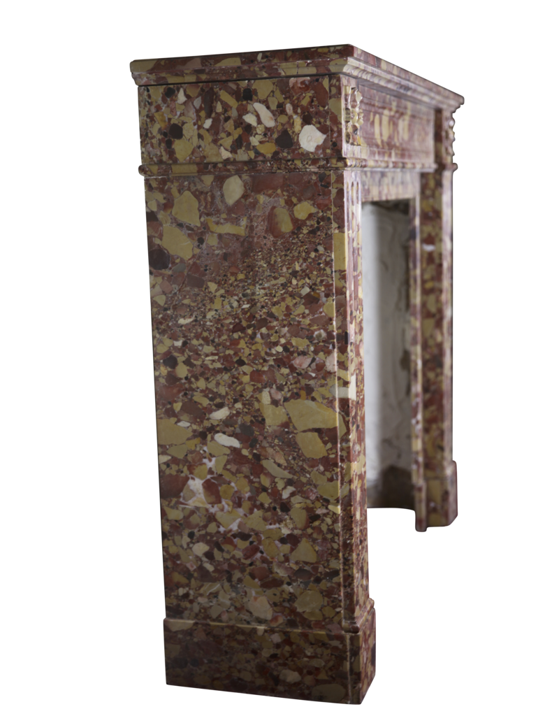 The Antique Fireplace Bank 19Th Century French Vintage Fireplace In Brêche Marble