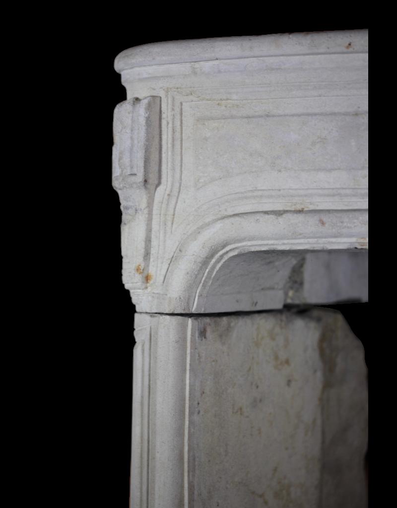 Classic French Limestone Fireplace Surround