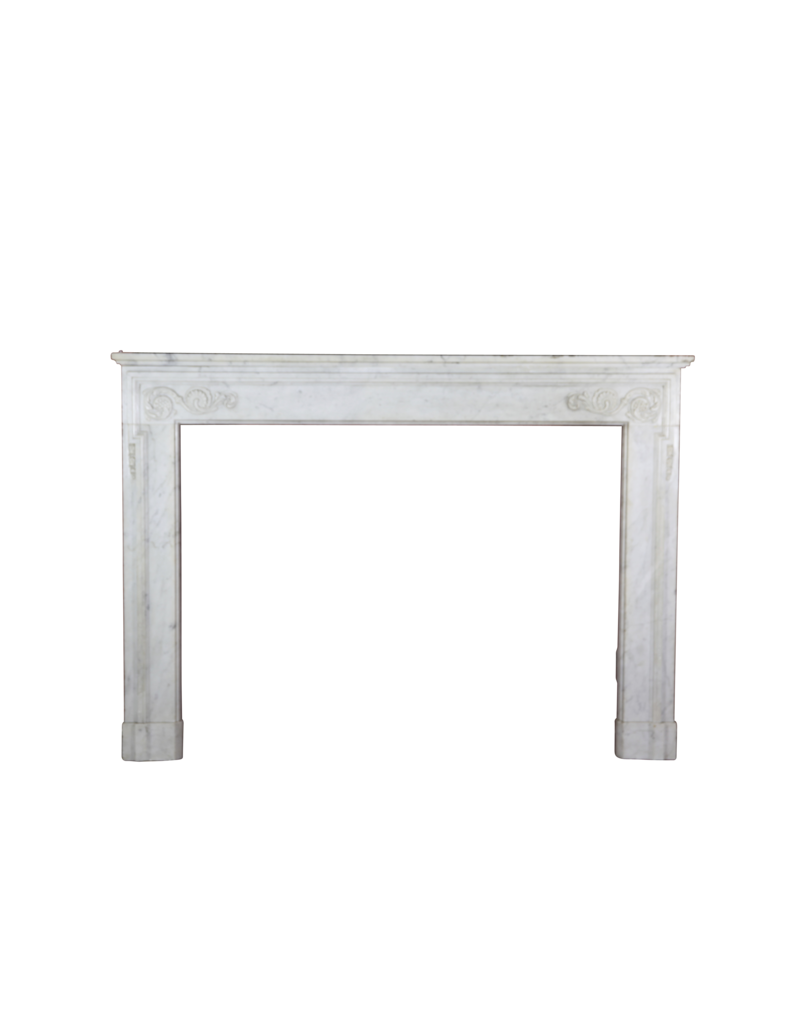 The Antique Fireplace Bank 18Th Century Fine French Fireplace In Carrara Marble