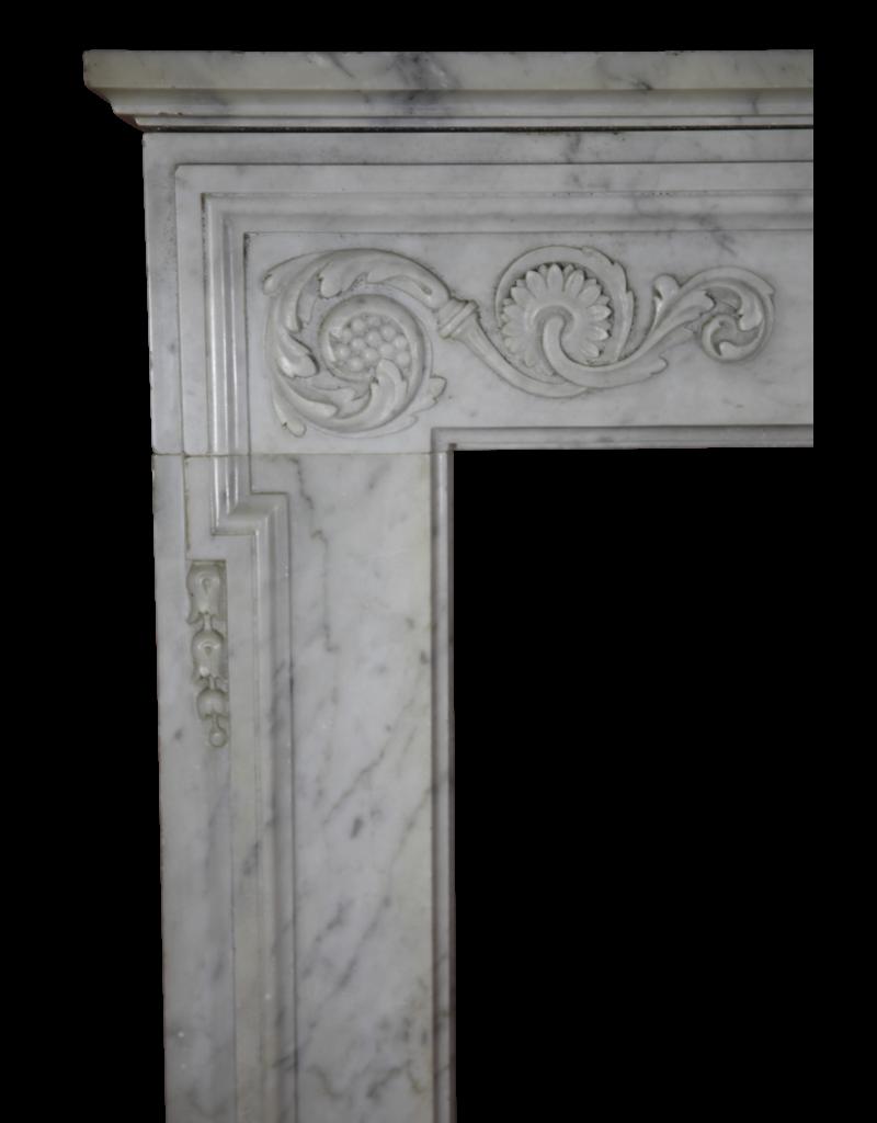 The Antique Fireplace Bank 18. Jahrhundert Feine Französisch Kamin Aus Carrara-Marmor