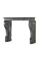 The Antique Fireplace Bank French Chique Dark Stone Fireplace Surround