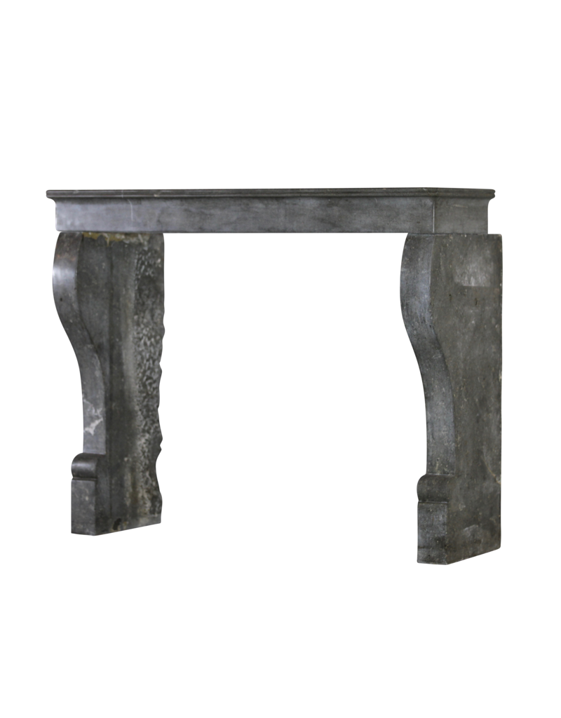French Chique Dark Stone Fireplace Surround