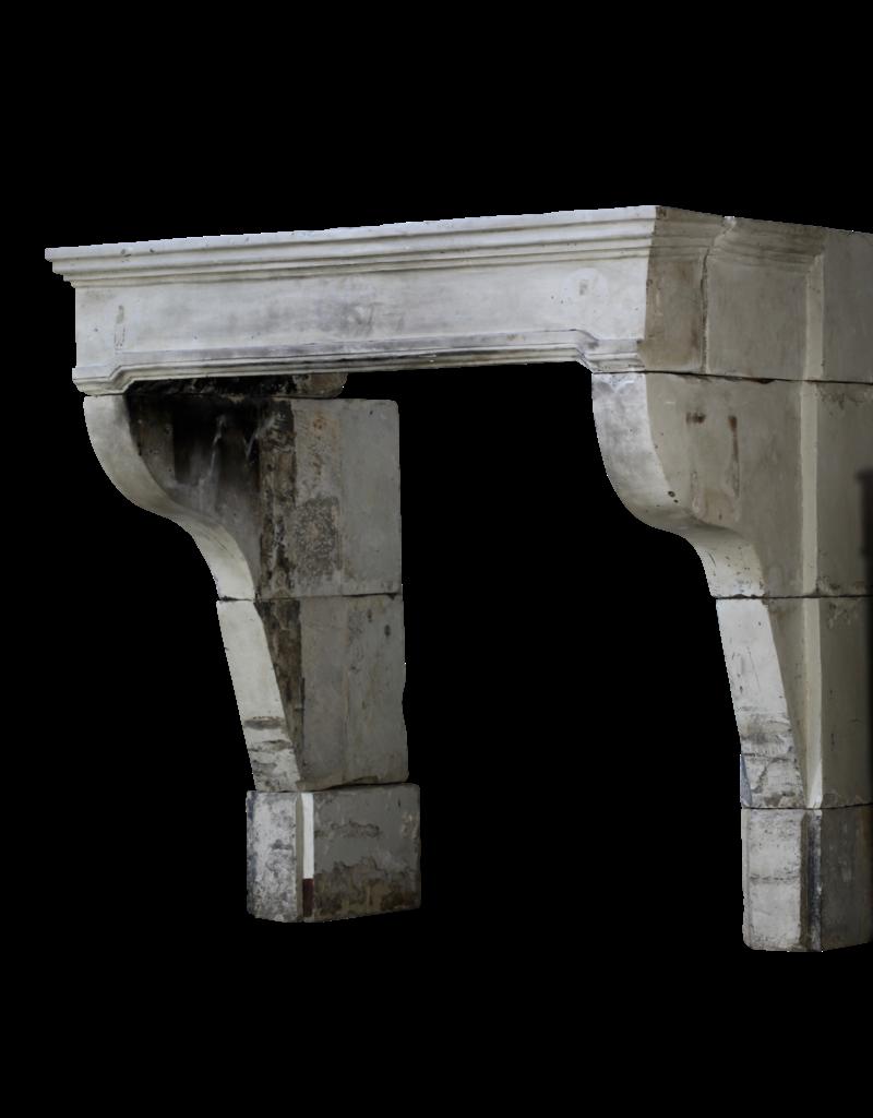Antike Französische Schloss Kamin Maske Im Kalkstein
