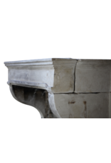 The Antique Fireplace Bank Vintage French Campagnard Limestone Fireplace Mantle
