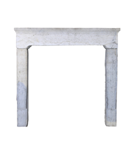 Rustic Antique Reclaimed Bicolor Limestone Fireplace
