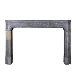 Timeless French Antique Fireplace Surround In Bicolor Bleu Stone