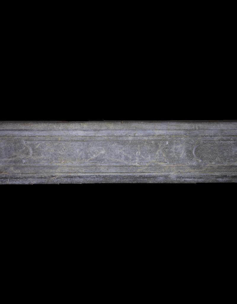 The Antique Fireplace Bank zeitloses Französisch Antike Kaminmaske In Zweifarbig Bleu Stein