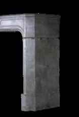 zeitloses Französisch Antike Kaminmaske In Zweifarbig Bleu Stein