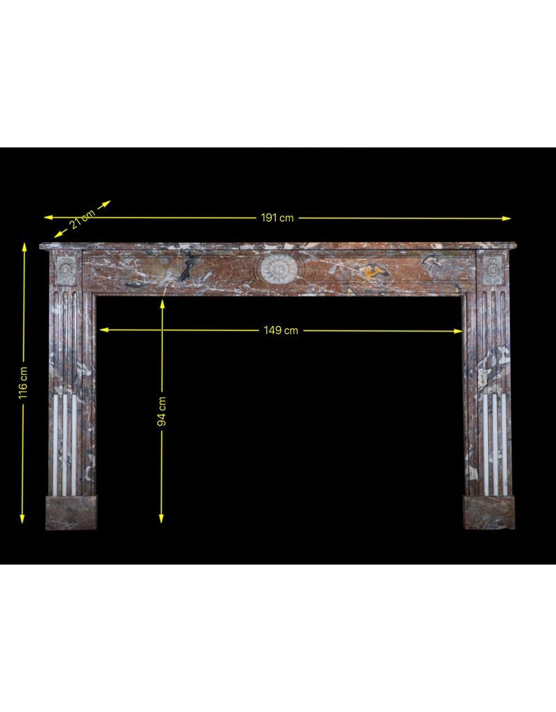 18Th Century Fine Belgian Marble Fireplace Surround