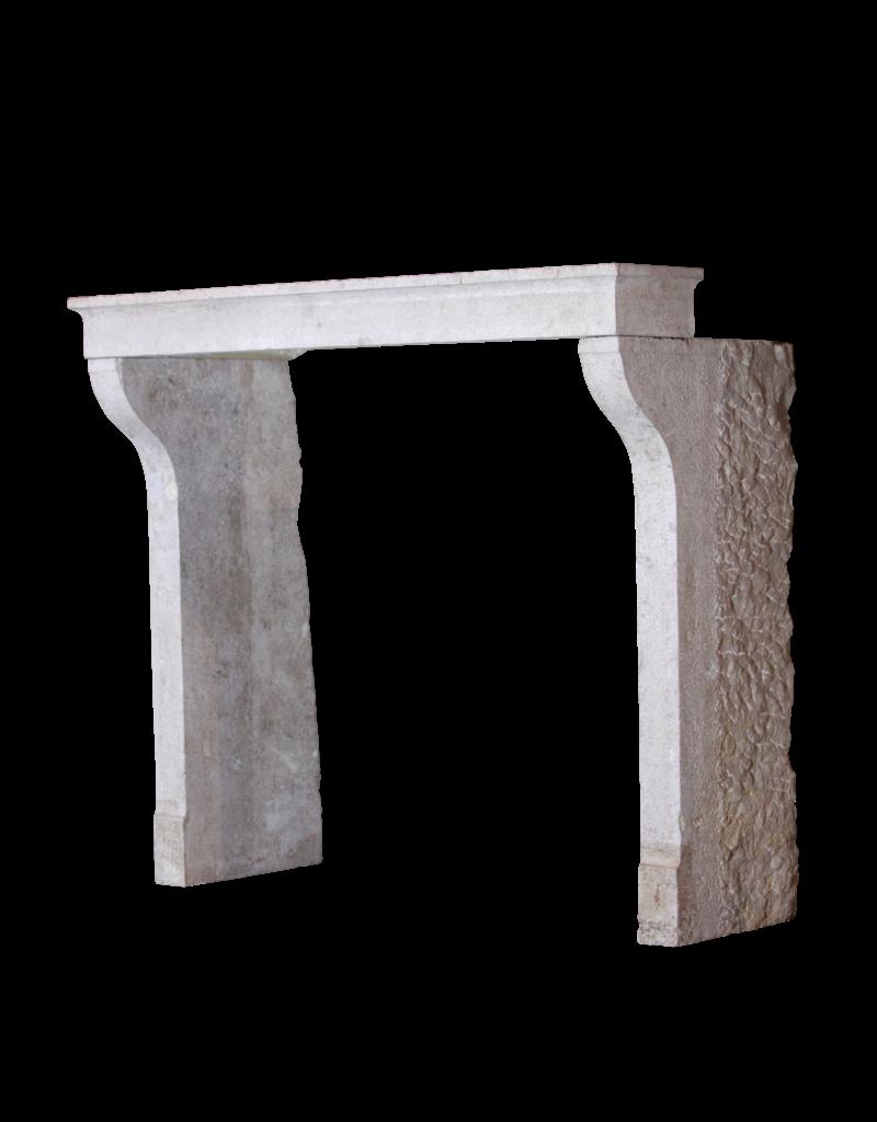 Francés País De La Piedra Caliza Antiguo Cheminea