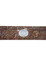 Breiter Brown Belgischen Marmor Jahrgang Kaminmaske