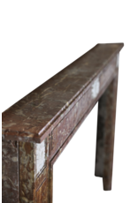 The Antique Fireplace Bank Wide Brown Belgian Marble Vintage Fireplace Surround