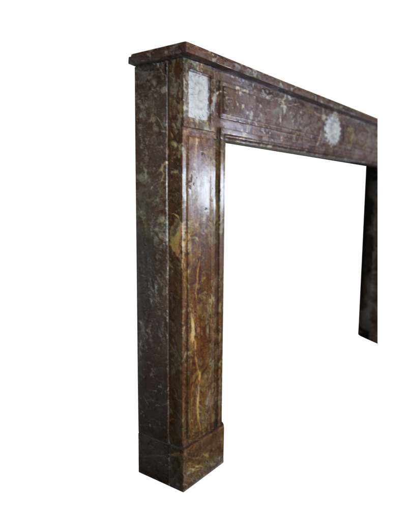 The Antique Fireplace Bank Breiter Brown Belgischen Marmor Jahrgang Kaminmaske