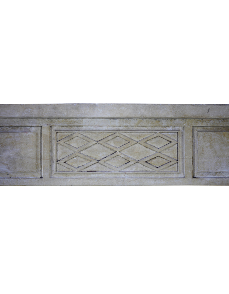 Feine Klassische Französisch Antike Stein Kaminmaske