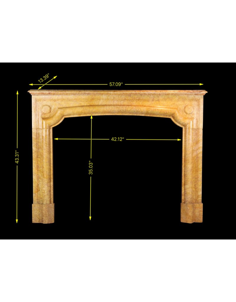 Antique French Fireplace Surround In Yellow Marble