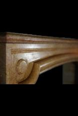 Antik Französisch Kaminmaske In Gelb Marmor