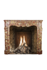 Rich French Pompadour Style Fireplace