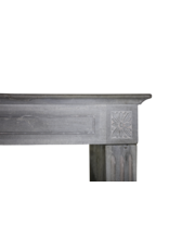 The Antique Fireplace Bank 19Th Century Bleu-Grey Color Hard Limestone Fireplace Surround