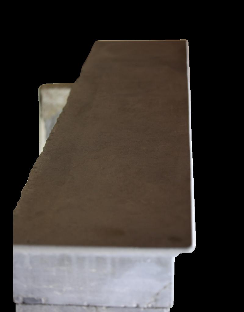 Siglo 19 Bleu-Gris Color De Piedra Caliza Dura Chimenea