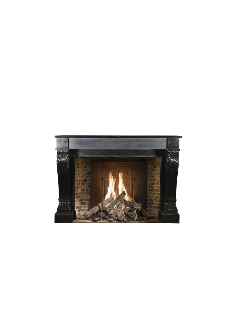 The Antique Fireplace Bank Black Belgian Marble Decorative Fireplace Surround