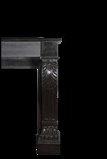 Schwarzer Belgischer Marmor Dekorativer Kaminmaske