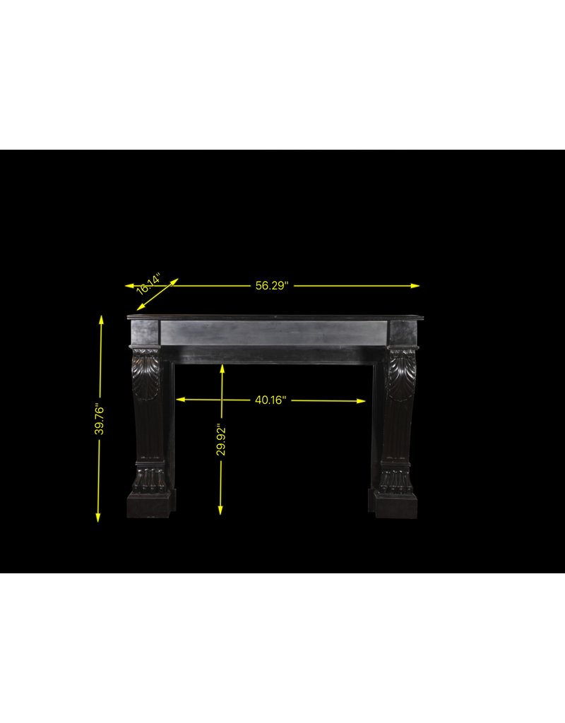 Black Belgian Marble Decorative Fireplace Surround
