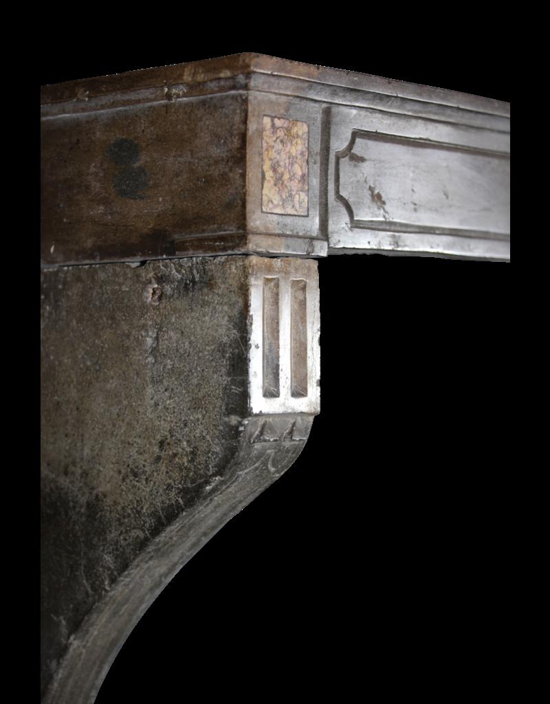 Zweifarbig Französisch Antiken Stein Surround