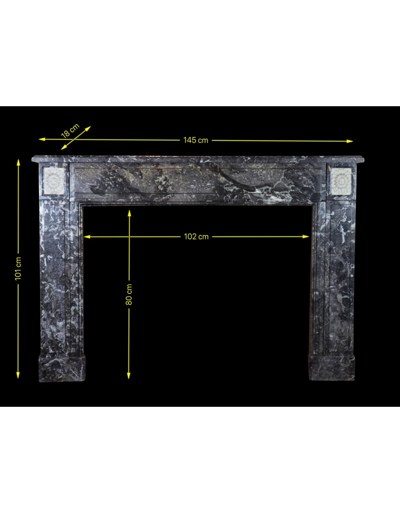 Classic Belgian Marble Fireplace Surround