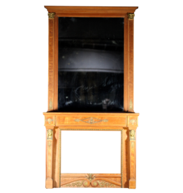 Vintage Fireplace Surround With Mirror