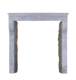 Small French Country Style Limestone Mantle