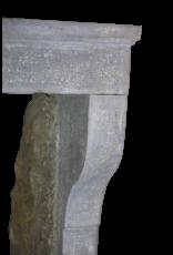 Pequeño Francés Del Estilo De País De La Piedra Caliza Chimenea Surround