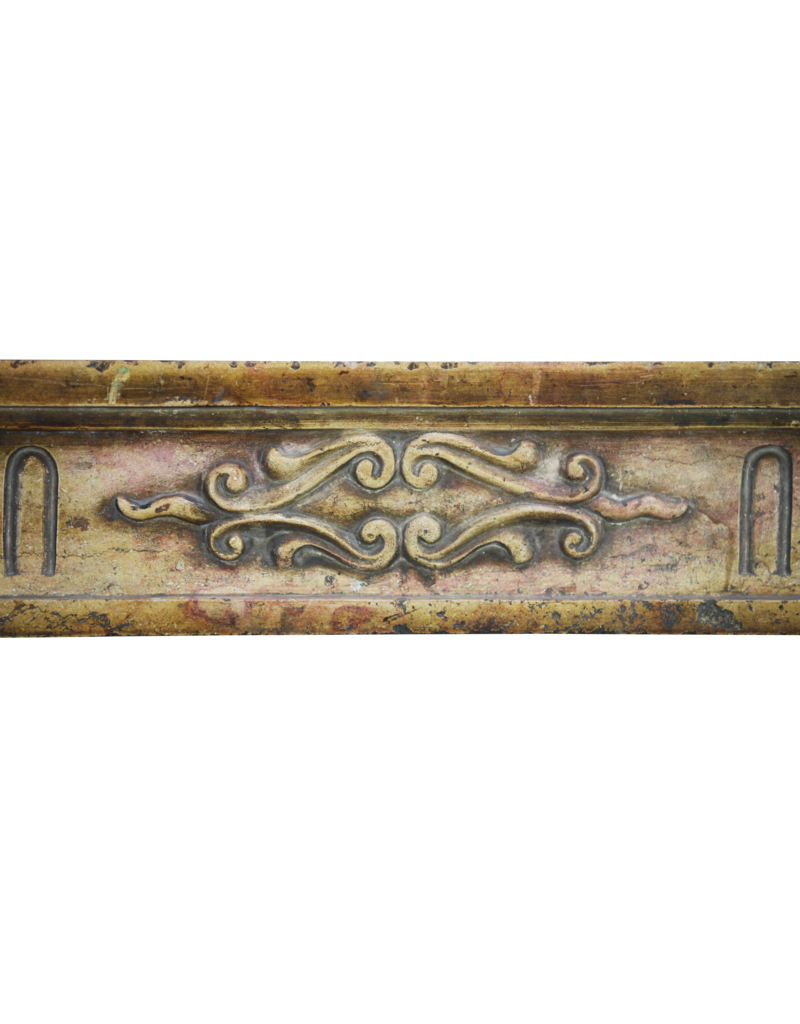The Antique Fireplace Bank French Bicolor Hard Limestone Fireplace Surround