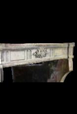 French Bicolor Hard Limestone Fireplace Surround
