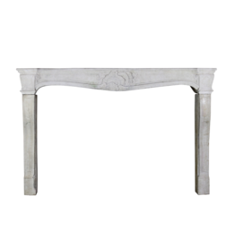 Wide French Classic Country Limestone Fireplace Surround