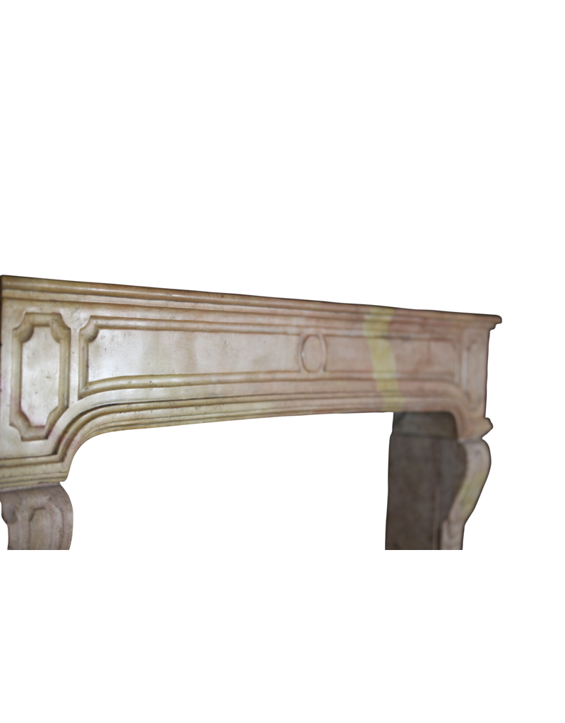 18Th Century Fine French Fireplace In Hard Stone