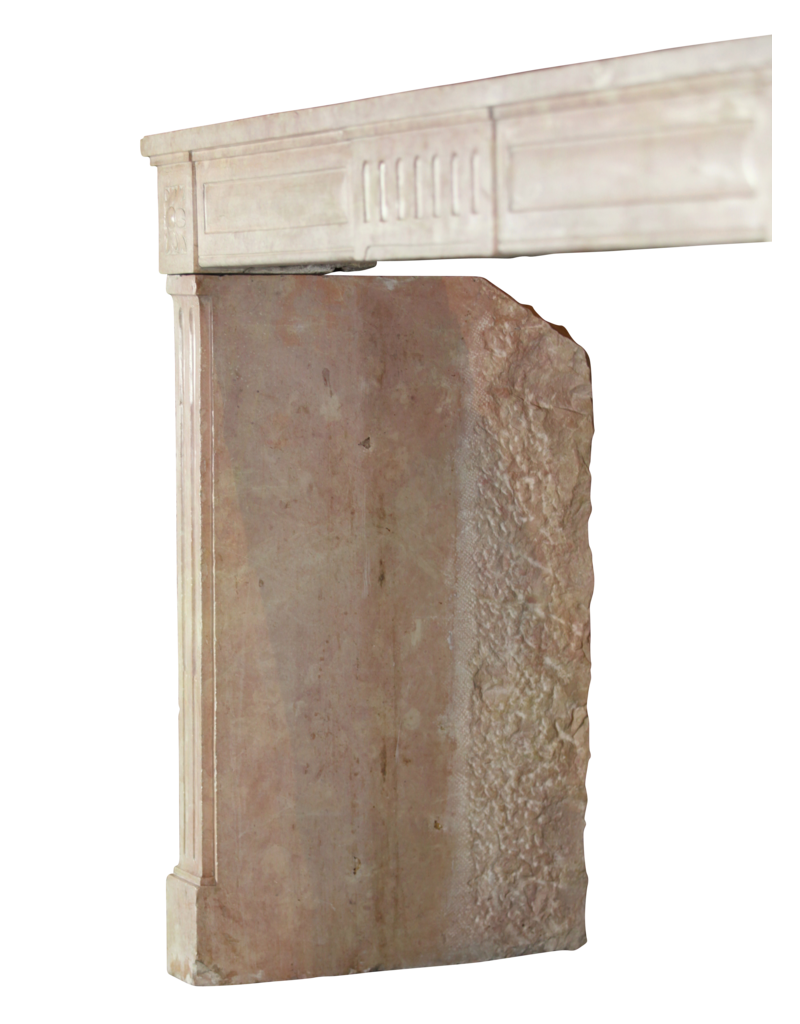 French Castle Stone Fireplace Surround