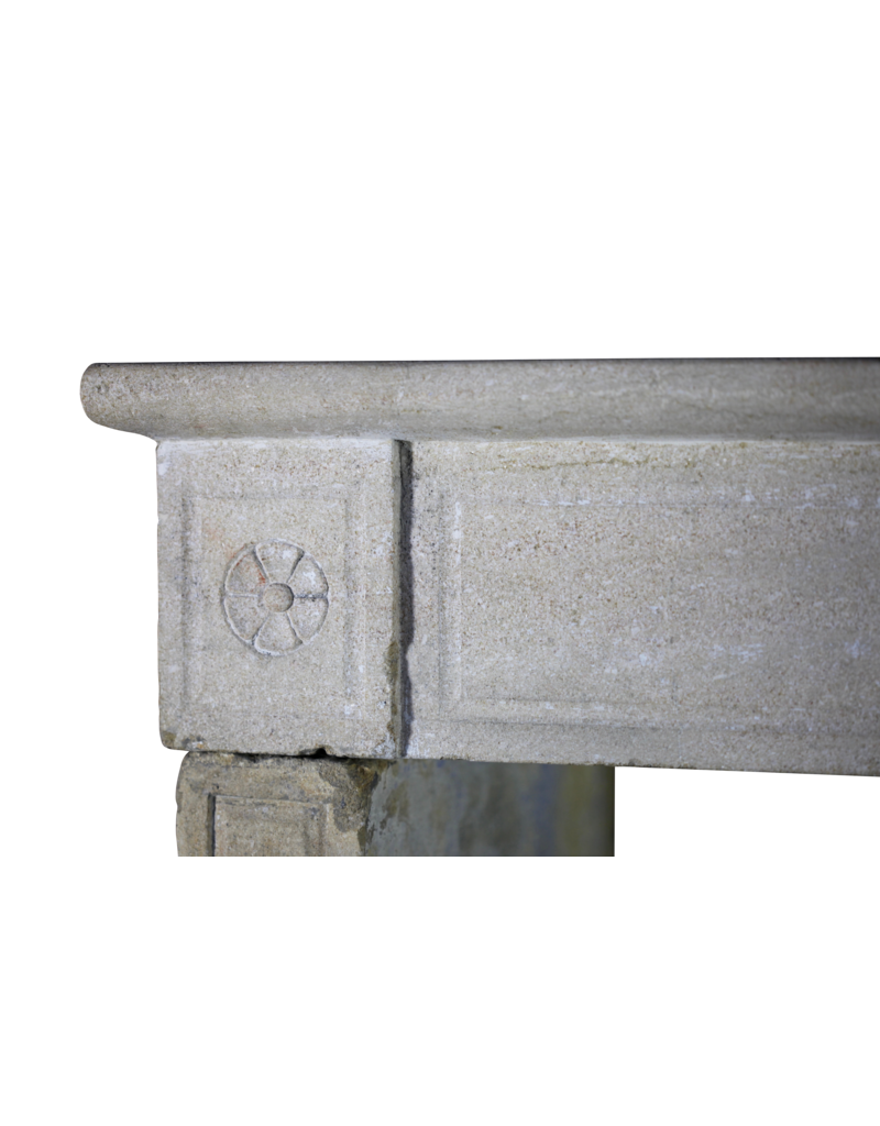 The Antique Fireplace Bank French Naive Country Limestone Fireplace Surround
