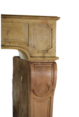 Vintage Zweifarbig Stein Kaminmaske