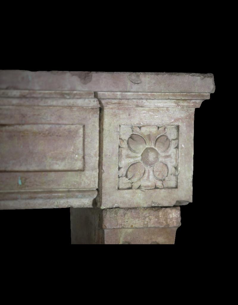 The Antique Fireplace Bank Francés Mármol Piedra Rosa Chimenea De La Vendimia