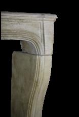 French Classic Limestone Fireplace Surround