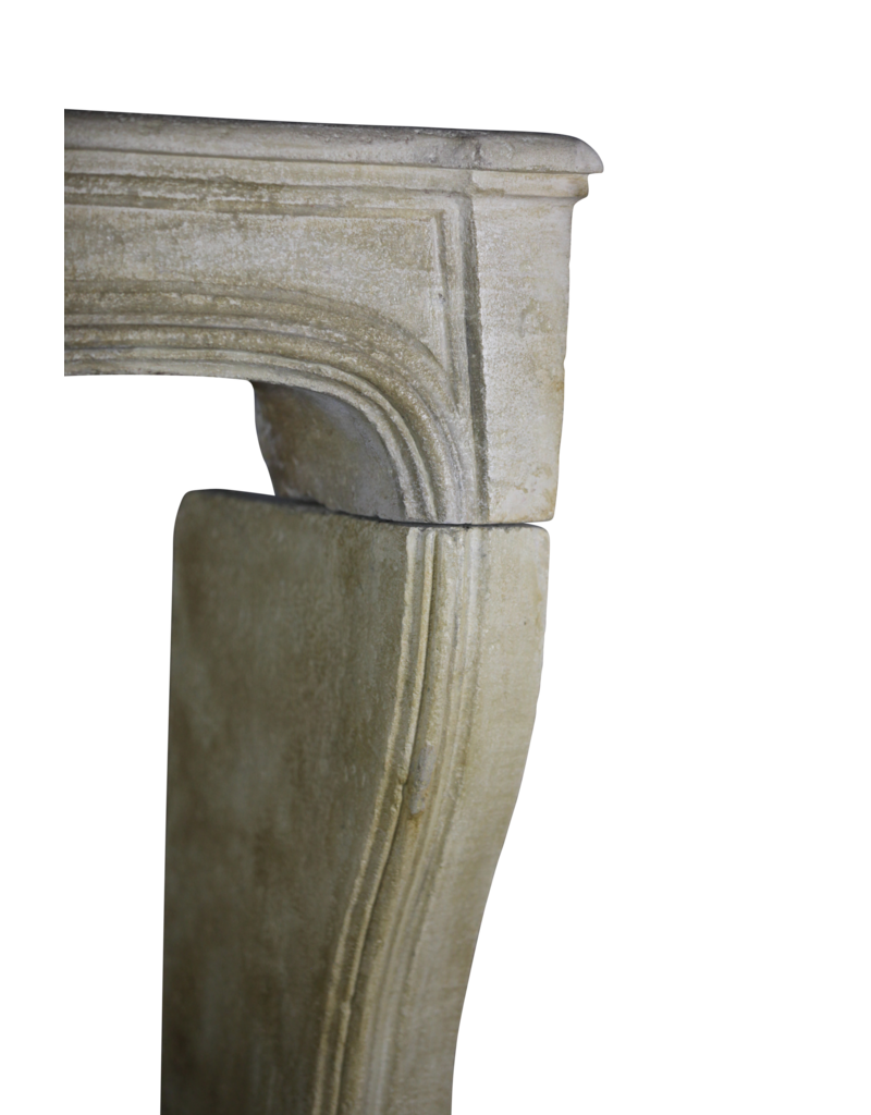 Francés Clásico De Piedra Caliza Chimenea