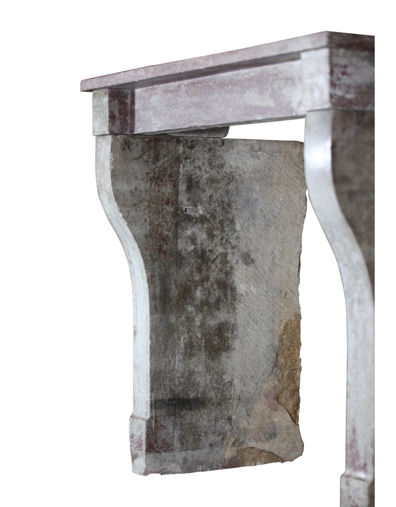 French Rustic Fireplace Surround With Original Patina