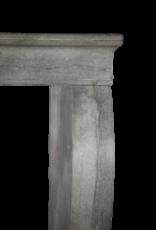 zeitloses Französisch Antike Kaminmaske In Bleu Stein
