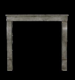 Small Timeless Grey European Fireplace Surround