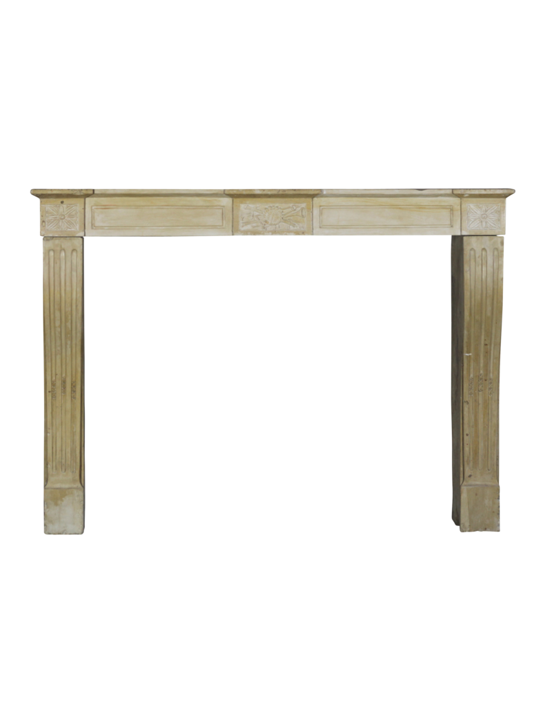 Delicate Directoire Style Marble Stone Fireplace Mantle