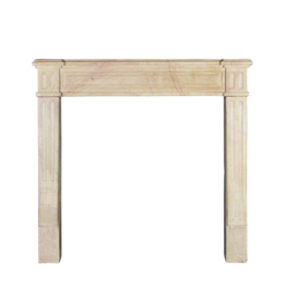 The Antique Fireplace Bank Small Classic French Hard Limestone Fireplace Mantle